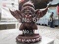 9 Tibetische Tibet Volks tempel Buddhismus Red Bronze Kupfer Garuda Vogel Gott statuen-in Statuen & Skulpturen aus Heim und Garten bei