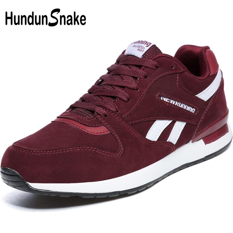 Hundunsnake Red Leather Men's Sneakers Men Summer Mens Shoe Sports Shoes Women'S Sport Shoes Men 2018 Running Shoes Man Gym T620