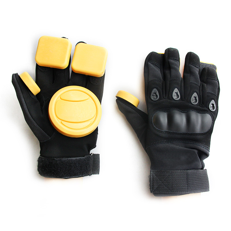 Free Shipping Improver Skateboard Longboard Slide Gloves With Slider Professional Protective Gloves For Skating For Big Palm-in Skate Board from Sports & Entertainment