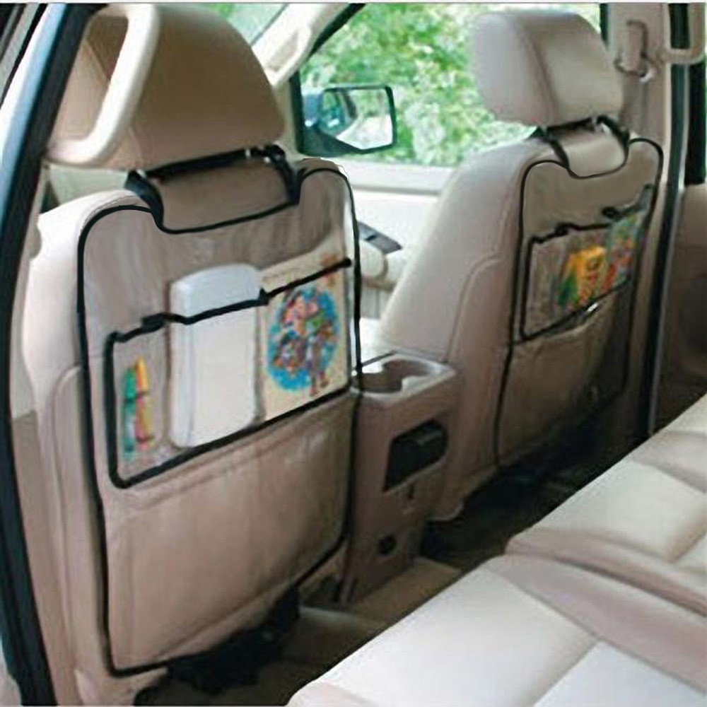Car Auto Seat Back Protector Cover For Children Kick Mat Storage Bag Car Styling Back Car Seat Cover Organizer Holder