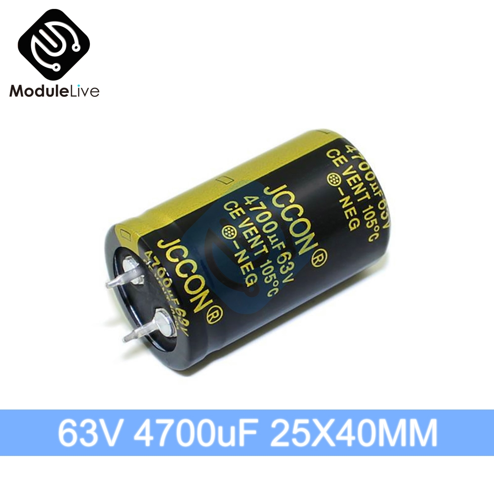 63V 4700uF 25X40mm  Aluminum Electrolytic Capacitor High Frequency Low ESR 63V4700UF 25*40mm