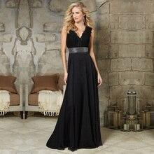Neue Spitze Bodenlangen Formal Frau Kleid Fashion V-ausschnitt Flügelärmeln Abendkleider 2016 Mit Glänzenden Perlen Taille