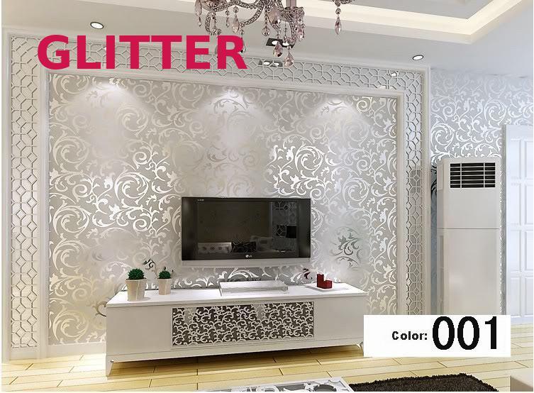 Papier peint moderne en damassé argent or papier peint en relief 3d pour salon papier peint pour murs rouleau papier peint décor à la maison