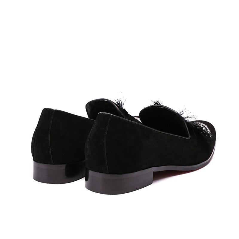Sapatos Casamento Bordado Dos Deslizamento Em Do Homens Calçados Apartamentos Chinelos Mabaiwan Moda Mocassins Borla Vestido Preto Casuais qWZ1tOFB