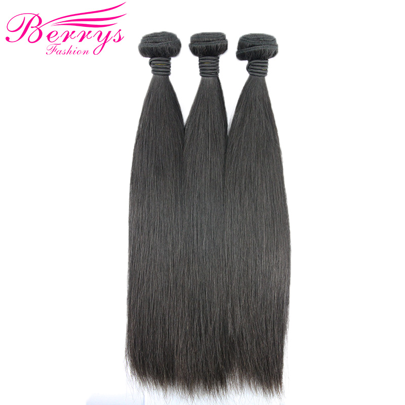 Brazilian Straight Hair Weave 3PCSBundles Deal Human Hair Weaving Natural Color 10 26Inch Brazilian Remy Hair Extensions Berrys-in 3/4 Bundles from Hair Extensions & Wigs    1