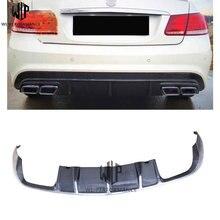 E Class углеродного волокна задний бампер для губ сзади диффузный спойлер хвост губ для Mercedes Benz W207 C207 10-купе стайлинга автомобилей применение