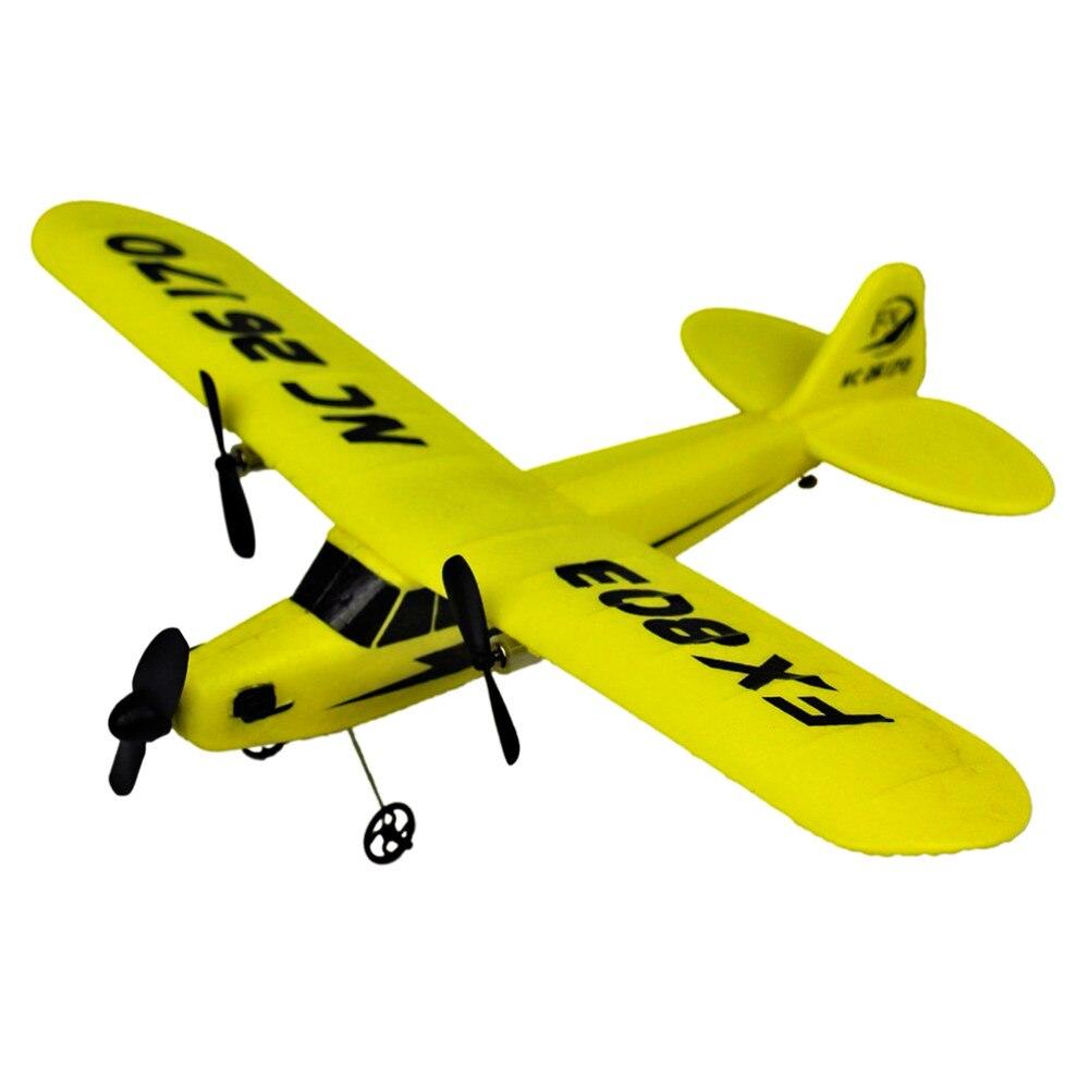 Avión RC juguetes para chico regalo 150 m distancia de la Comisión de la Verdad y la reconciliación eléctrica de 2 CH de espuma al aire libre Control remoto hawker giroscopio planeador modelo de avión