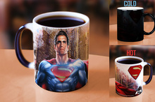 superman mugs heat reveal heat change color mug coffee mug ceramic novelty porcelain beer tea cups home decal kitchen drinkware