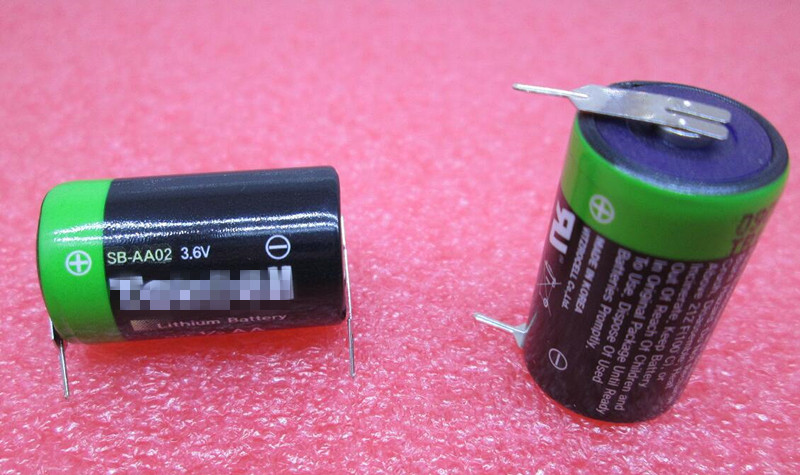HOT NEW SB-AA02 <font><b>1/2AA</b></font> 3.6 V lithium <font><b>battery</b></font> SBAA02 SL-350 With leg feet foot Li-ion <font><b>battery</b></font> image