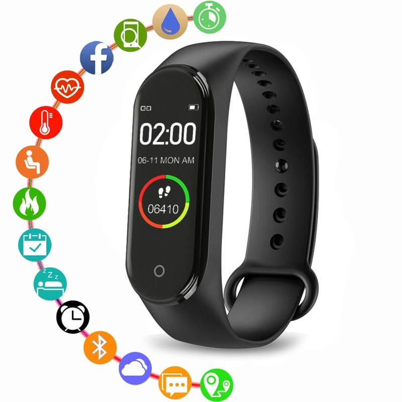 New M4 Smart Watch Heart Rate Blood Pressure Monitoring Boys And Girls Smart Watch Health Bracelet Waterproof Smart Watch Women