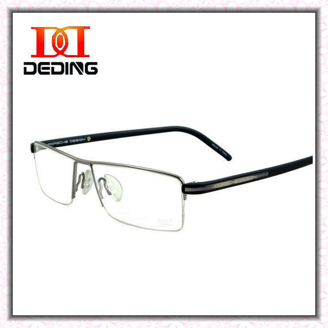 Metade Aro de Metal Com a Marca De Moda Homens Óculos Óculos de Miopia Óptico Óculos de Prescrição Óculos de Negócios DD0750