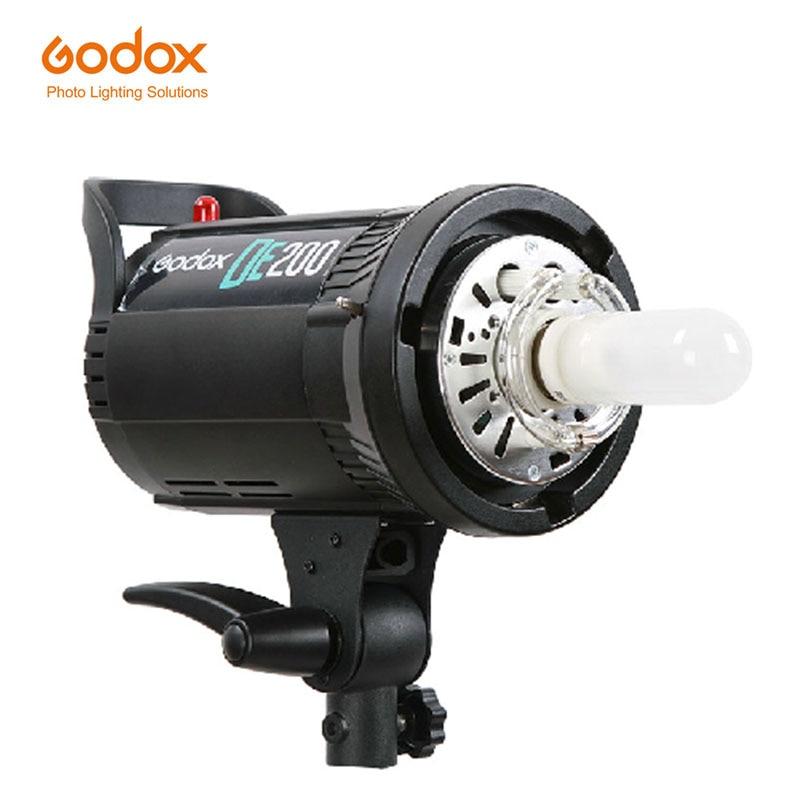 Godox DE200 200W Compact Studio Lighting Lamp Head Flash Light Strobe 200Ws 220v for Wedding photography godox ds200 200ws compact studio lighting lamp head flash light strobe 110v 220v