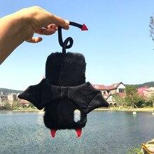 Leuke Fleece Bat Devil Wing Mobiel Cases Voor Iphone Xs \ Max \ Xr Zwart Novelty Funny Animal Lovertjes Oor telefoon Schelpen Voor I7 I8