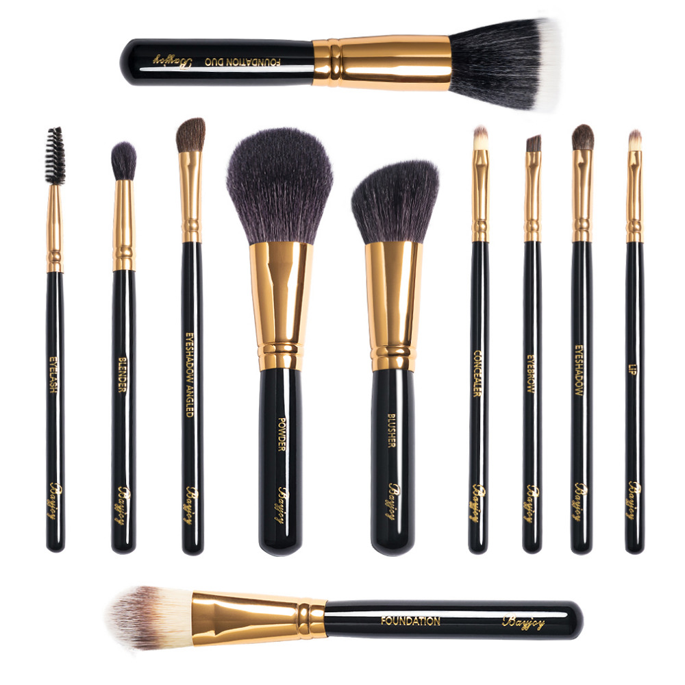 Make Up Brushes 11pcs Brush Sets Professional Nature Bristle Brushes Beauty Essentials Makeup Brushes with Gift Bag Top Quality temptalia make up brushes 8pcs brush set professional nature bristle brushes beauty essentials makeup brushes copper top quali