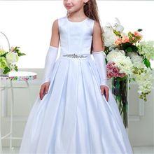 Новые платья для девочек с цветами на свадьбу платье принцессы