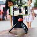 Ulanzi selfie soporte con soporte para teléfono portátil mini trípode de escritorio de montaje para iphone andriod smartphones cámara