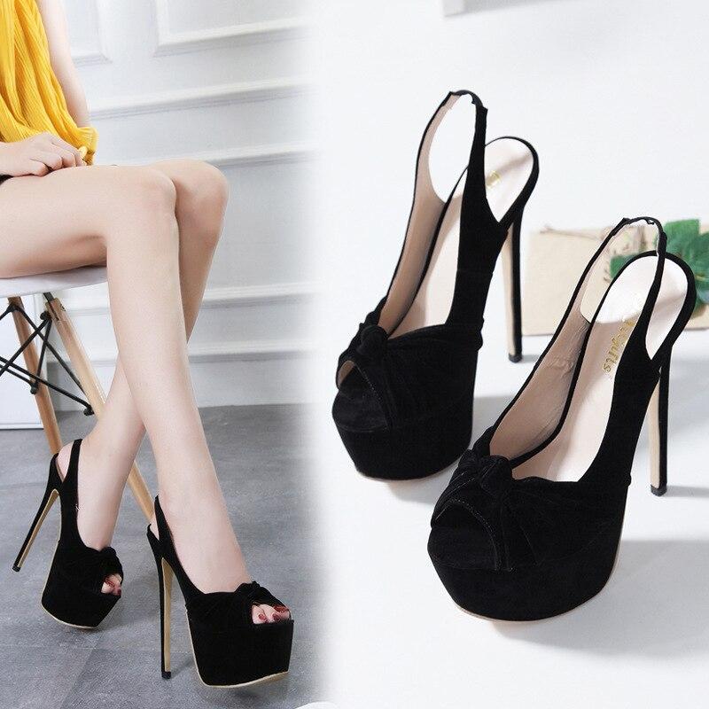 Negro Consuelo De Sexy Gran Alto Clásico Calle Zl 2019 Disparó 2018 Plataforma Zapatos Mujeres Fuentes Tacón 50 Sandalias Tamaño Las Primavera BR44wq1S