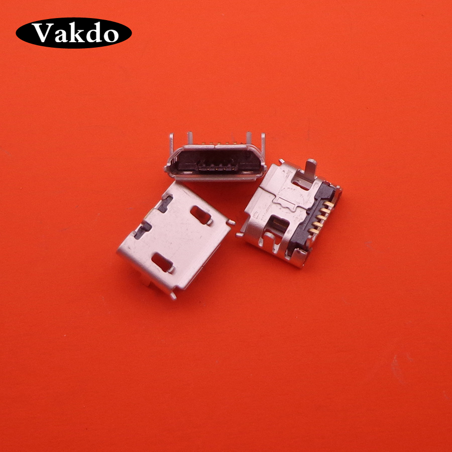 500PCS LOT Micro 5P USB jack socket connector pcb for phone GPS charging 5 pin port