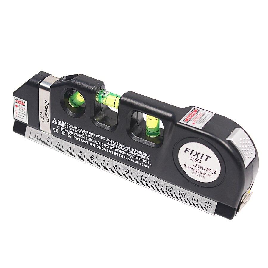 Laser Level Vertical Horizon Misura di 8FT Assetto Standard e Metriche Governanti Multiuso Strumento di Misura