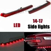 RED Tour Pack Side Marker Lights LED LIGHTS For Harley Touring Road King flhr Street Glide Electra 14 17