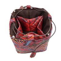 Roll Up Jewelry Organizer 30pcs Lot Mix Color 11 8 Inch Silk Printed Zipper Drawstring Pouches