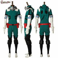 Anime My Hero Academia 3 Boku no Hero Academia Cosplay Izuku Midoriya Battle Costume Deku Battle Halloween Outfits Free Shipping