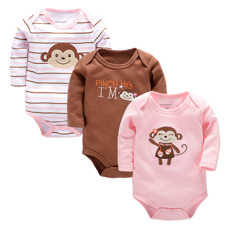 0-6M Clothes 100%Cotton Baby Rompers Jumpsuit Baby Romper Overalls Newborn Baby Clothes Boys Romper Costumes for Girls baby clothes baby rompers winter christmas costumes for boys girl zipper rabbit ear newborn overalls jumpsuit children outerwear