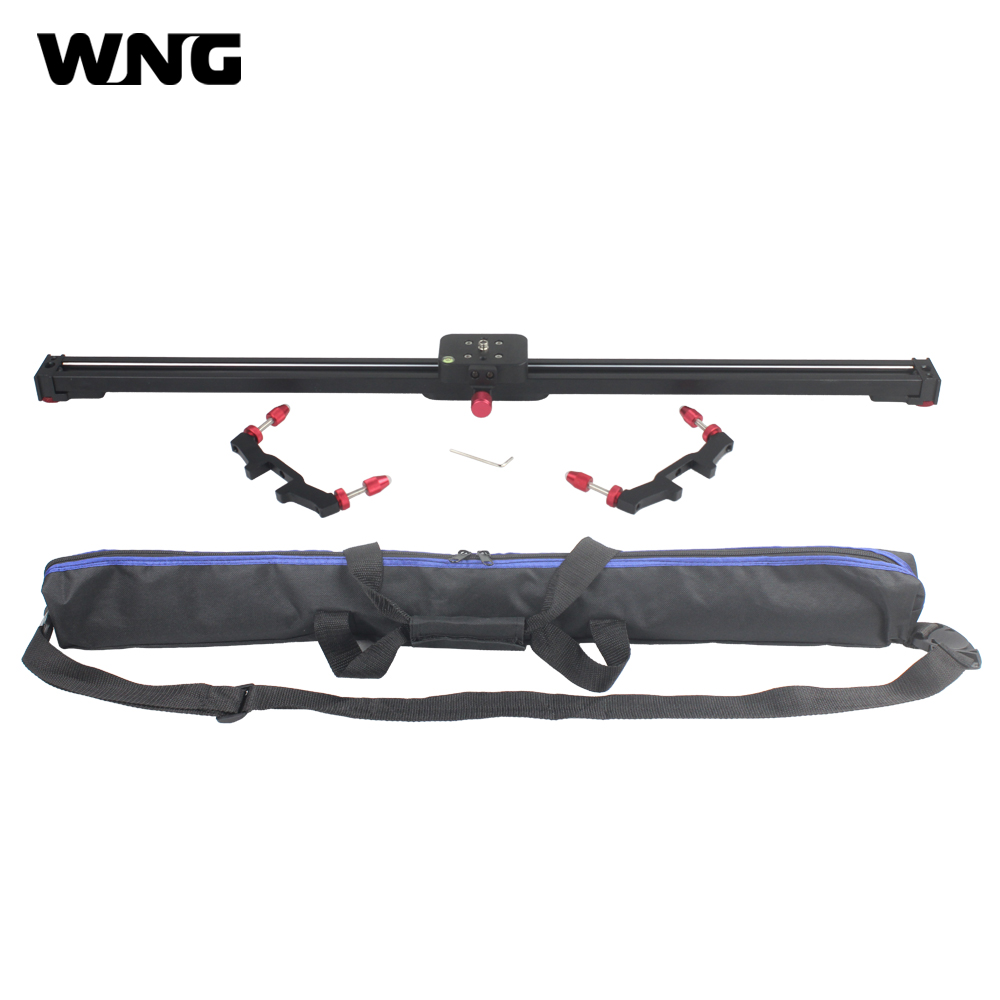 80CM Aluminum Alloy DV Rail Slider for DSLR Cameras and Camcorders with Carrying Bag ylg0102h dslr shoulder mount support rig double hand handgrip holder set for all video cameras and dv camcorders