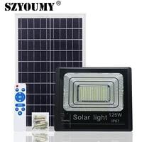 SZYOUMY 屋外ソーラー LED 投光器 65 ワット 125 ワット LED インジケータフラッドライトソーラー投光器と充電表示