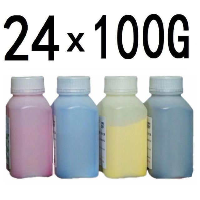 100g//Bottle,6 Black,6 Cyan,6 Magenta,6 Yellow No-name Refill Copier Color Laser Toner Powder Kits for Lanier LD520CSPF LD525C LD525CSPF LD620C LD625C LD520C LD520CL Laser Printer Toner Power