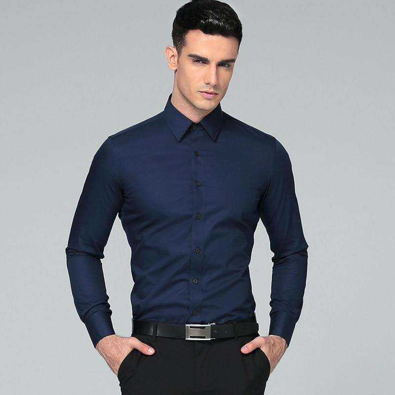 Këmisha për burra 2018 marka me mëngë të gjata kostume biznesi - Veshje për meshkuj - Foto 3
