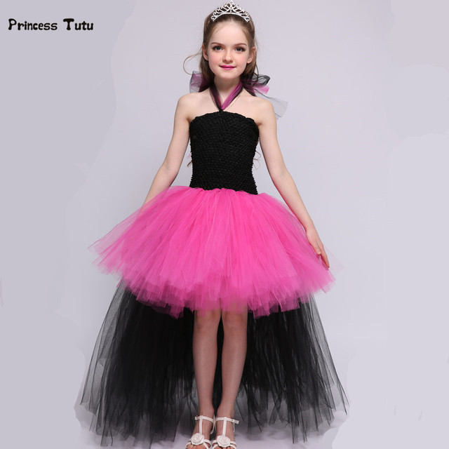 rockstar queen children girl tutu dress princess halloween costume for kids cosplay birthday gift funking tulle