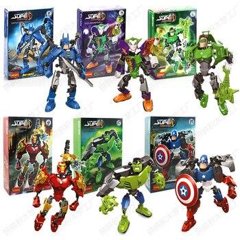 Single Sale Super Hero Marvel Avengers Iron Man Hulkbuster Figure Ironman Compatible LegoINGlys Building Brick Toys For Children