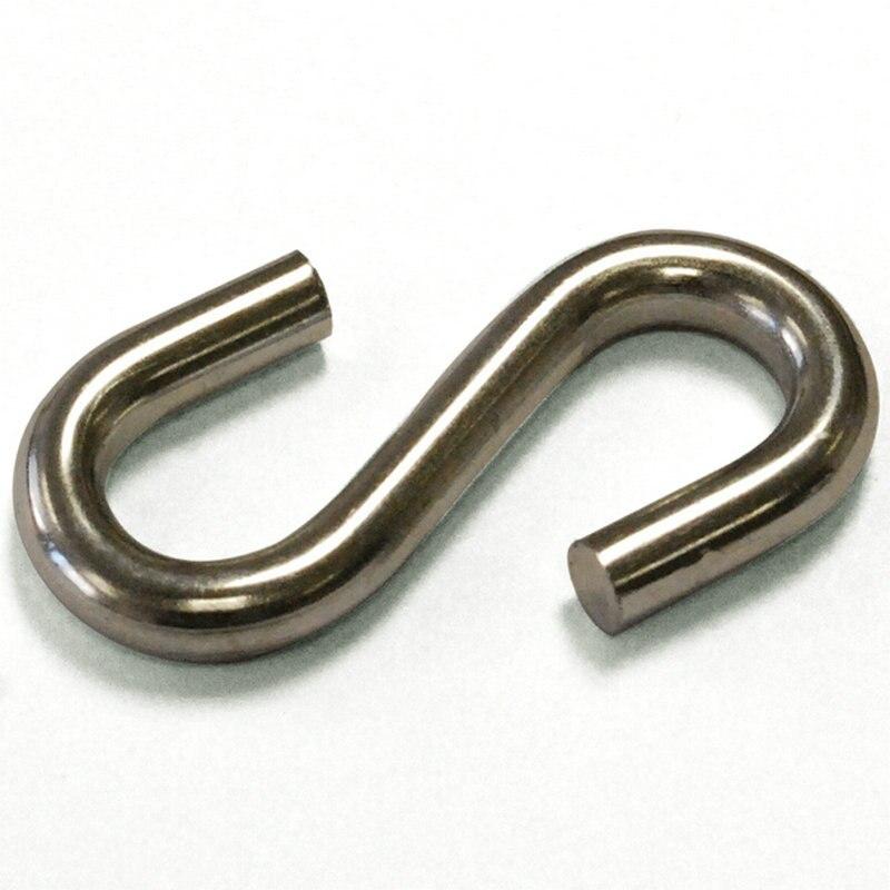 100 шт/15 кг/коробка 10X100 мм металлическая оцинкованная углеродистая сталь S крючки в форме S вешалка крюк для подвешивания