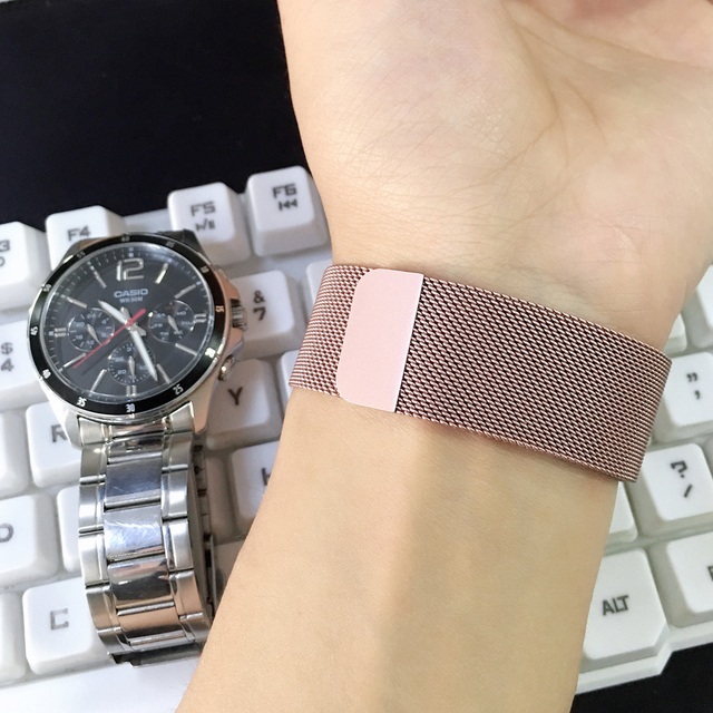 Milanese loop Strap for apple watch band correa apple watch 4 iwatch Band 42mm 38mm 44 mm 40 stainless steel Bracelet watchband 2