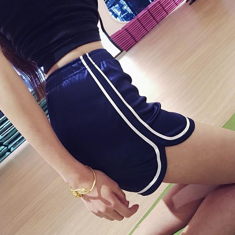 2019 summer   shorts   women ladies fitness sexy ultra   short   irregular sports fashion Patchwork Rayon silk women striped   shorts