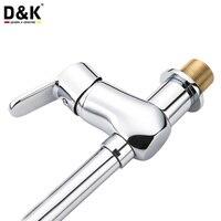 D K Kitchen Faucets Chrome Sink Faucet Single Holder Single Hole Kitchen Mixer Kitchen Mixer 360