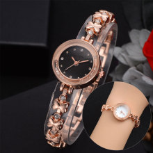 Rose Gold Stainless Steel Fashion Ladies Wristwatch Creative Quartz Clock Luxury Watches Women Dress