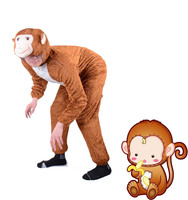 Halloween Adult kids Boy animals Happy monkey Cosplay Costumes clothes Stage Amphibian costume child Animal monkey Jumpsuits