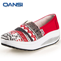 2017 New trendy color women summer&spring wedge casual shoes,Lady girls platform swing shoes hot sale stylish printing shoes