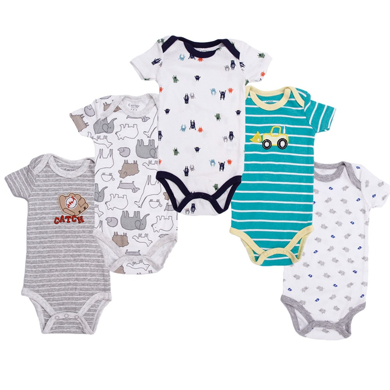 80cad9bcb28 Baby Rompers Children Summer Clothing Set Newborn Baby Clothes Cotton Baby  Rompers Short Sleeve Baby Girl