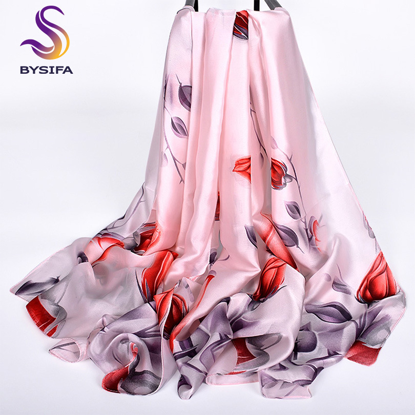[BYSIFA] Black White Dot Long Silk   Scarf   Shawl Ladies Brand Accessories Pineapple Design 100% Silk Feeling   Scarves     Wraps   Echarpe