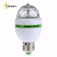 Mini E27 3W Full Color Stage DJ Lamp Light RGB Crystal Auto Rotating LED Bulb EB0207 цены