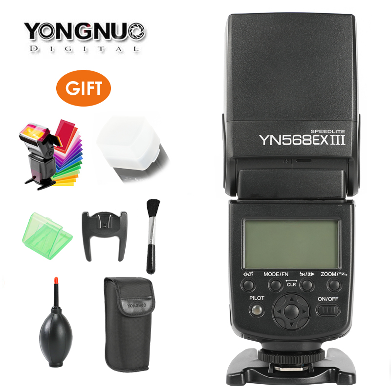 YONGNUO YN-568EX II YN568EX III Wireless TTL HSS Flash Speedlite for Canon 1100D 650D 600D 700D for Nikon D800 D750 D7100 the little man