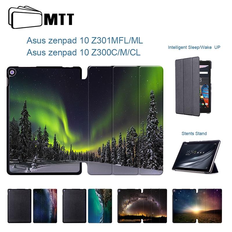 For Asus Z301 Z301MFL Z301ML Aurora Meteor Smart Leather Case For ASUS Zenpad 10 Z300C Z300CL Z300CG 10.1