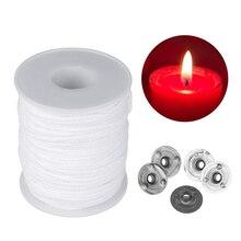 61 м квадратная плетеная ватная фитиль восковая свеча ядро катушки или 100 шт. подсвечник Sustainer вкладки DIY ремесло делая поставки