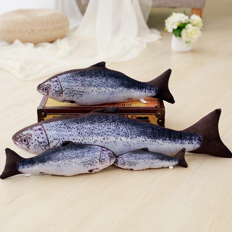 20cm/30cm/40cm Realistic Simulation Fish Plush Toy Soft Cartoon Animal Mandarin Fish Stuffed Doll Cat Dog Pet Toys Children Gift
