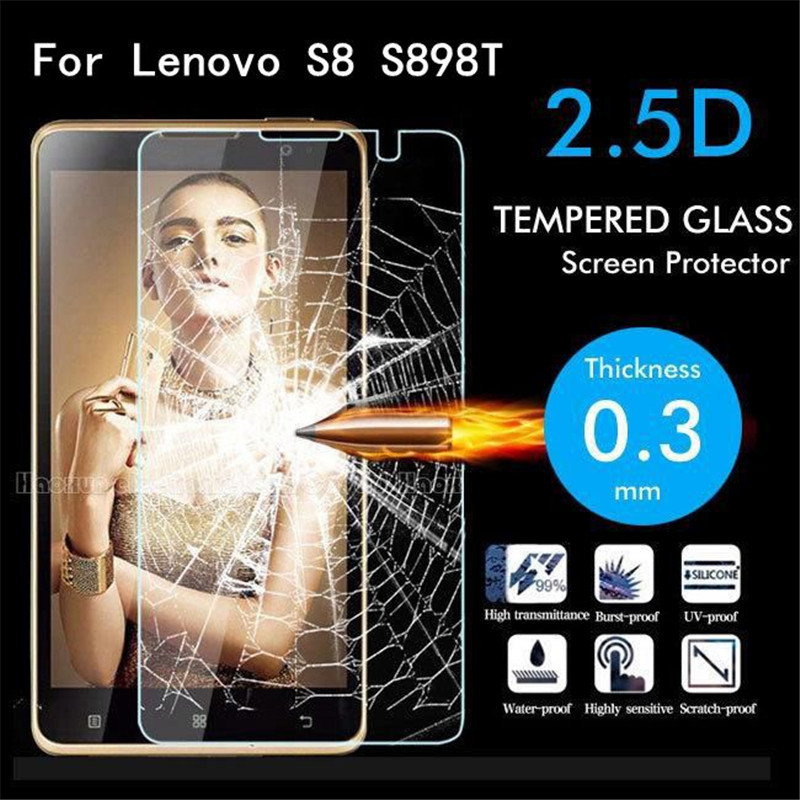 Tempered Glass For Lenovo S8 S898 S898t Golden Warrior 5.3 inch Screen Protector Toughened Protective Film Guard