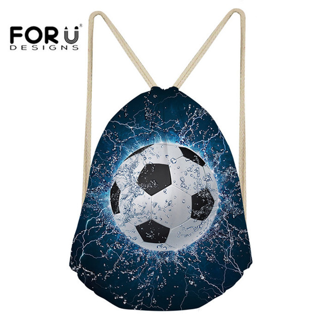FORUDESIGNS Drawstring Bag Ball 3D Printing Women Backpack Travel Casual Female Strap Shoulder Bags for Girls Woman Pack Back
