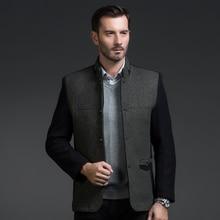 Полноценно воротник деловой человек из 2016 осенью зимы шерстяная ткань ткань пальто небольшой пункт пальто, мужчин среднего возраста